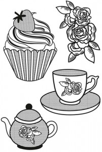 STEMPEL AKRYLOWY KAISERCRAFT CS113 Tea Party
