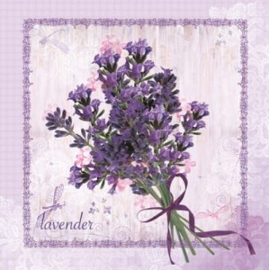 SERWETKA LUZ 33*33 MAKI SLOG029401 BUNCH OF LAVENDER