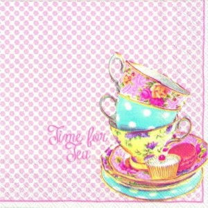SERWETKA LUZ 25*25 IHR 732359 TIME FOR TEA