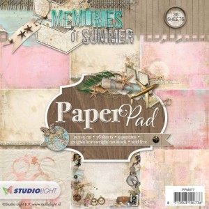 PAPIER SCRAP Studio Light 15*15 170g a'36ark PPMS77 Memories of Summer