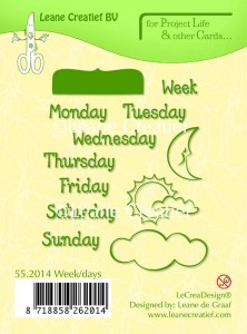 STEMPEL AKRYLOWY LEANE C. 55.2014 Week / days