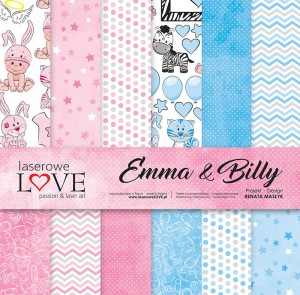 PAPIER SCRAP LL 30,5*30,5 EMMA & BILLY ZESTAW