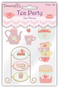 STEMPEL AKRYLOWY DOVECRAFT DCCS003 Tea Party