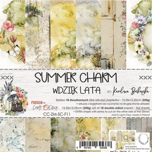 Papier scrap Craft O'Clock 15*15 Summer Charm Zestaw
