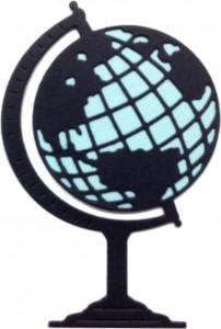 WYKROJNIK CHEERY LYNN B397 WORLD ATLAS / GLOBUS