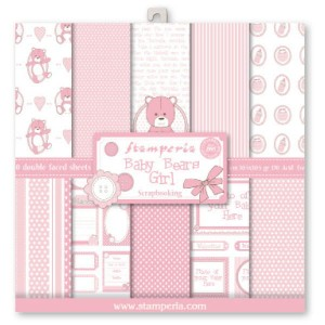 PAPIER SCRAP STAMPERIA 30,5*30,5 170G A'10 SBBL19 BABY BEARS GIRL