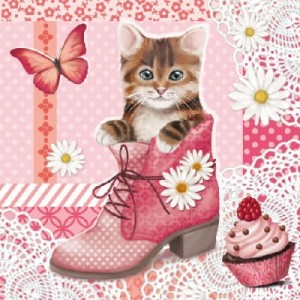 SERWETKA LUZ 33*33 AMBIENTE 13309035 CAT IN SHOE