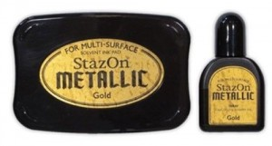 STAZON INK PAD METALLIC GOLD ORO SZ-000-191