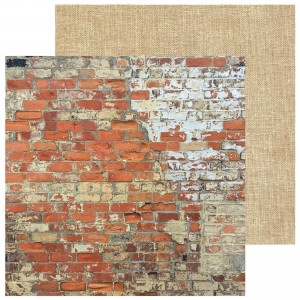 PAPIER SCRAP KAISERCRAFT 30,5*30,5 BASE COAT IV P2297 Brickwork