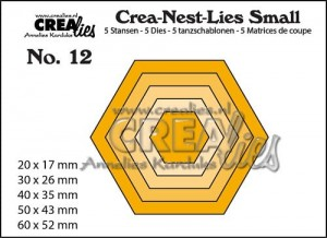 WYKROJNIK CREALIES CNLS 12 - HEXAGON