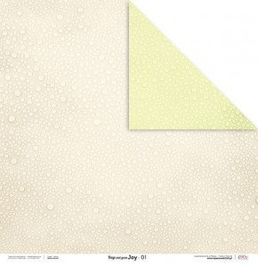 PAPIER SCRAP LL 30,5*30,5 BEIGE AND GREEN JOY 01