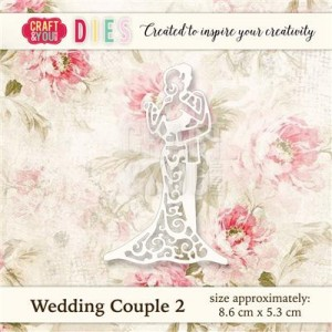 WYKROJNIK CRAFT&YOU CW019 WEDDING COUPLE 2 / MŁODA PARA 2