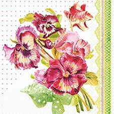 SERWETKA LUZ 33*33 HOME F. 211326 PAINTED PANSY
