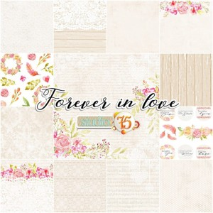 PAPIER SCRAP S75 30*30 FOREVER IN LOVE ZESTAW