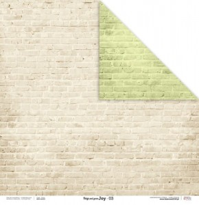 PAPIER SCRAP LL 30,5*30,5 BEIGE AND GREEN JOY 03