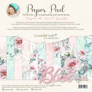 Papier scrap LemonCraft 15*15 Blush bloczek