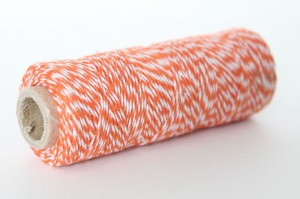 SZNUREK VC TWINE 45M*1MM 3908-042 ORANGE-WHITE