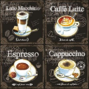 SERWETKA LUZ 33*33 AMBIENTE 13308250 TYPES OF KOFFEE