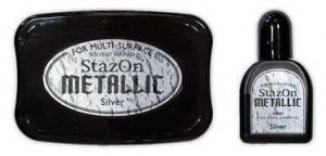 STAZON INK PAD METALLIC SILVER SZ-000-192