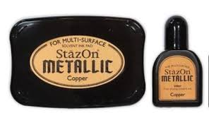 STAZON INK PAD METALLIC COPPER SZ-000-193