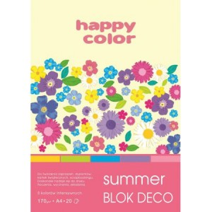 BLOK DECO HAPPY COLOR A4 170G 20K SUMMER 5KOL