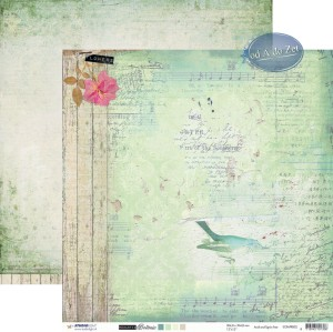 PAPIER SCRAP SL 30,5*30,5 ROMANTIC BOTANIC RB02