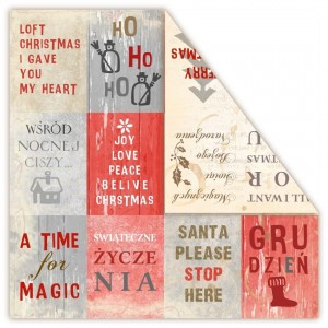 PAPIER SCRAP UHK 30,5*30,5 LOFT CHRISTMAS - WISHES