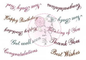 STEMPEL AKRYLOWY WRS CL455 Vivianna Greetings