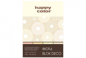 BLOK DECO HAPPY COLOR A4 170G 20K ECRU 4KOL