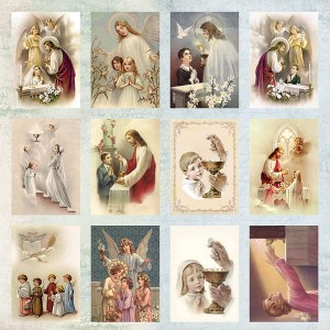 PAPIER SCRAP C&Y 30,5*30,5 FIRST HOLY COMMUNION CP-FHC1
