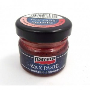 PASTA WOSKOWA PENTART WAX PASTE 20ML METALLIC RED