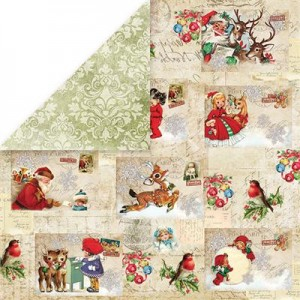 PAPIER SCRAP C&Y 30,5*30,5 NORTH POLE 01