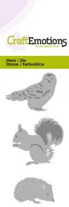 WYKROJNIK C.E.115633/0167 OWL+HEDGEHOD+SQUIRREL